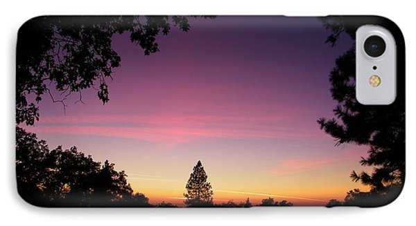 Pink Contrails IPhone Case by Tom Mansfield