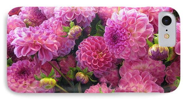 Pink Dahlia Bouquet IPhone Case