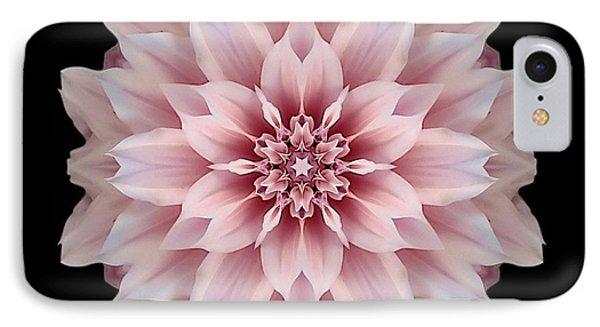 Pink Dahlia Flower Mandala IPhone Case by David J Bookbinder