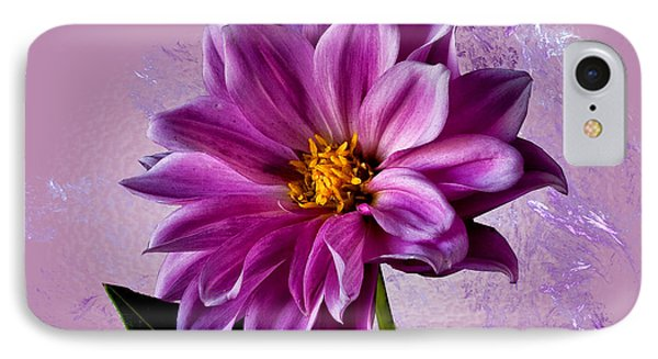 IPhone Case featuring the photograph Pink Dahlia by Shirley Mangini