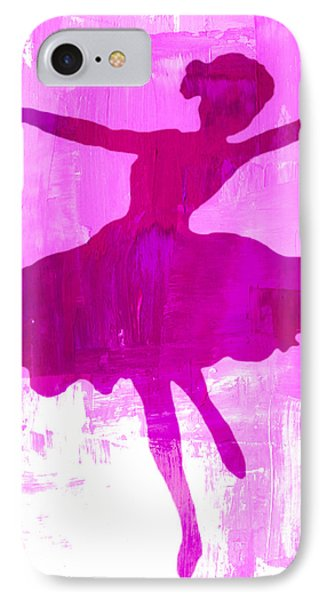 Pink Dancer IPhone Case by Mindy Bench