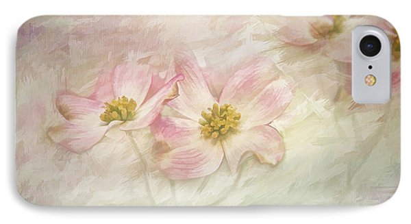 IPhone Case featuring the painting Pink Dogwood by Linda Blair