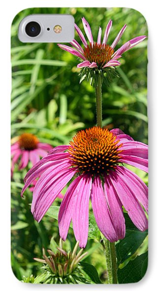 IPhone Case featuring the photograph Pink Echinacea by Ellen Tully