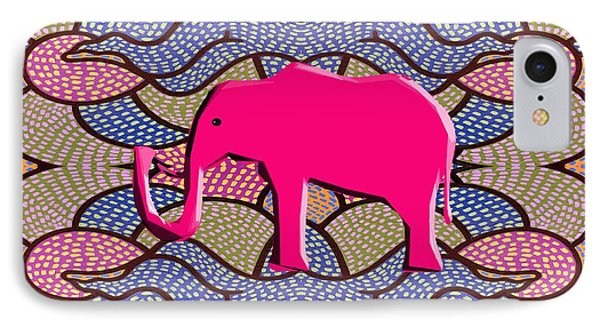 Pink Elephant Phone Case by Patrick J Murphy