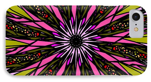 IPhone Case featuring the digital art Pink Explosion by Elizabeth McTaggart