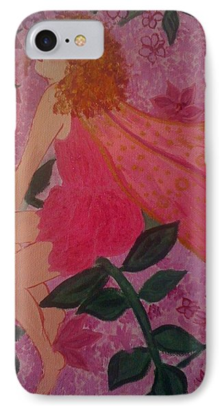 IPhone Case featuring the painting Pink Fairy by Judi Goodwin