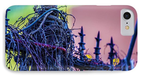 Pink Fence IPhone Case by Raymond Kunst