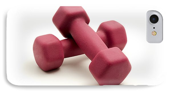 Pink Fixed-weight Dumbbells Phone Case by Fabrizio Troiani