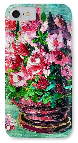 Pink Flowers IPhone Case by Ana Maria Edulescu