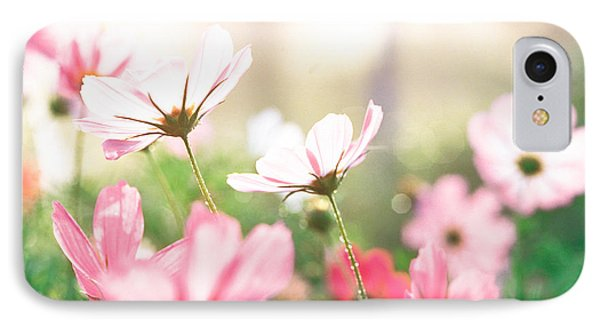 Pink Flowers In Meadow IPhone Case by Panoramic Images