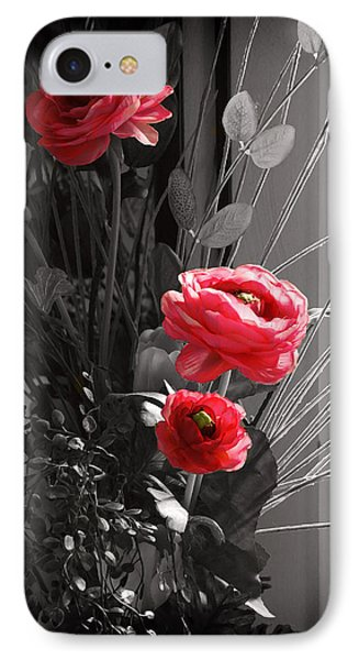 IPhone Case featuring the digital art Pink Flowers by Kara  Stewart