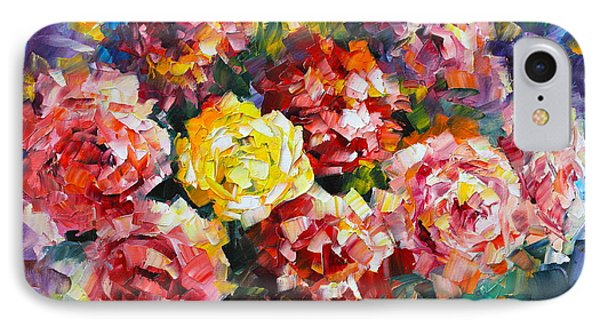 Pink Flowers Phone Case by Leonid Afremov