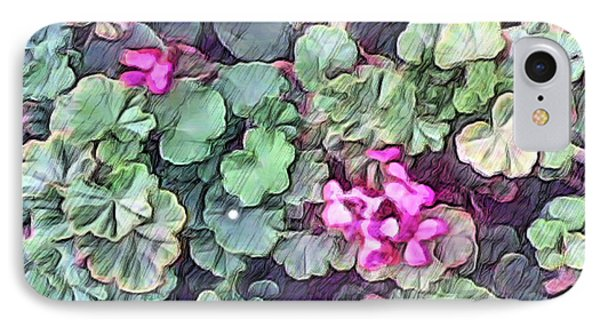 Pink Flowers Painting IPhone Case