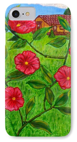 Pink Flowers IPhone Case by Sheri Keith
