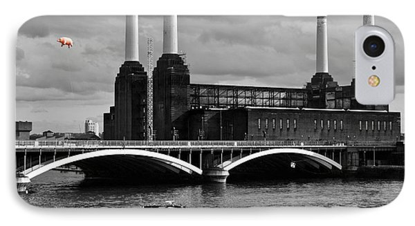 Pink Floyd's Pig At Battersea IPhone Case by Dawn OConnor
