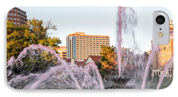 Pink Fountain For Breast Cancer Phone Case by Terri Morris