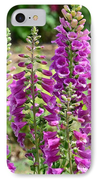 Pink Foxglove Flowers IPhone Case