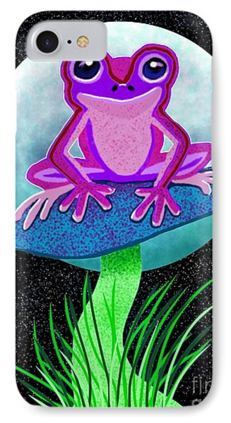Pink Frog And Blue Moon IPhone Case