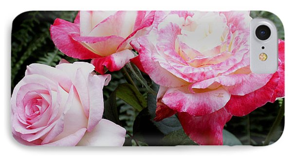 IPhone Case featuring the photograph Pink Garden Roses by James C Thomas