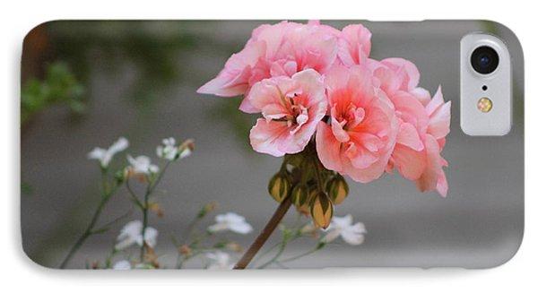 Pink Geranium IPhone Case by Leone Lund