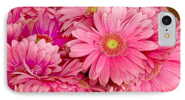 Pink Gerbera Daisies Phone Case by Art Block Collections