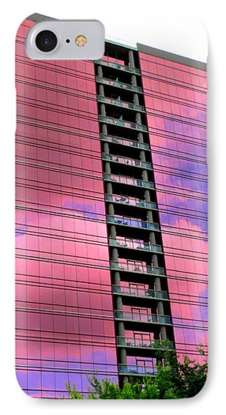 Pink Glass Buildings Can Be Pretty IPhone Case by Randall Weidner