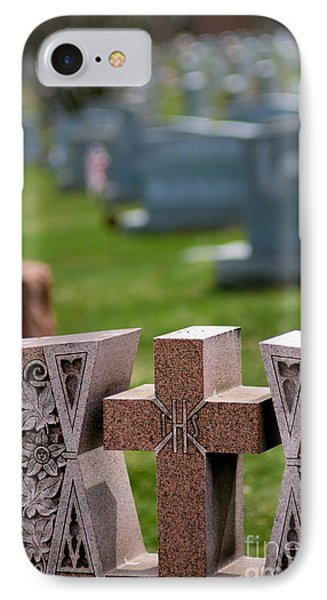 Pink Granite Tombstone Phone Case by Amy Cicconi