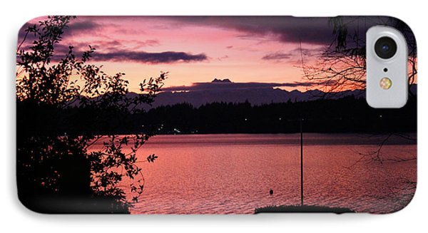 Pink Grapefruit Colored Sunset Phone Case by Kym Backland