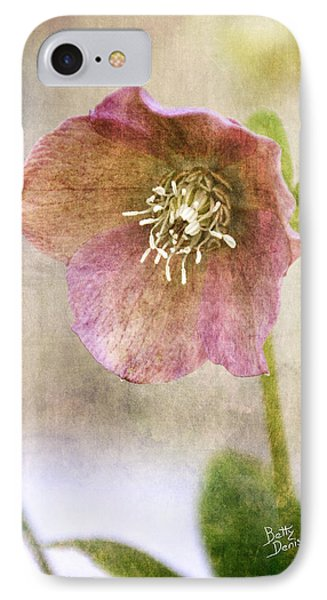 Pink Hellebore IPhone Case by Betty Denise