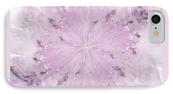 IPhone Case featuring the digital art Pink Hibiscus by Victoria Harrington