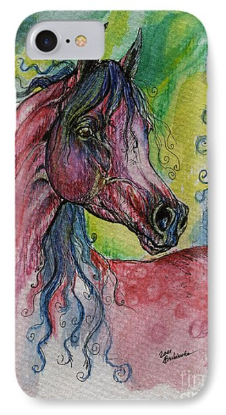 Pink Horse With Blue Mane IPhone Case by Angel  Tarantella
