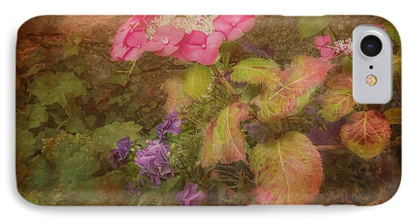 Pink Hydrangea And Purple Pansies IPhone Case by Bellesouth Studio