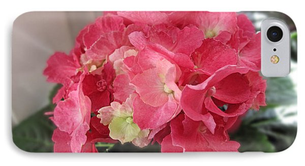 Pink Hydrangea Phone Case by Barbara McDevitt