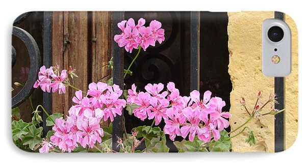 IPhone Case featuring the photograph Pink In My Window by Lew Davis