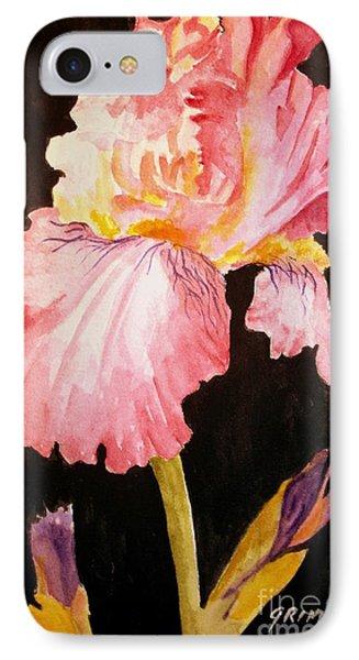 Pink Iris IPhone Case by Carol Grimes