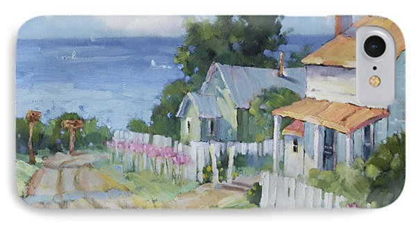 Pink Lady Lilies By The Sea By Joyce Hicks Phone Case by Joyce Hicks