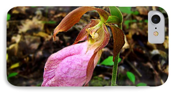 Pink Ladyslipper Orchid IPhone Case