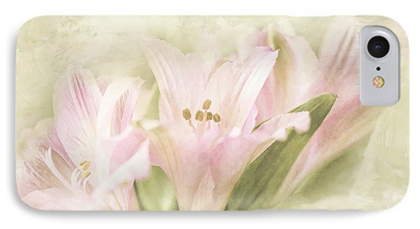 IPhone Case featuring the painting Pink Lilies by Linda Blair