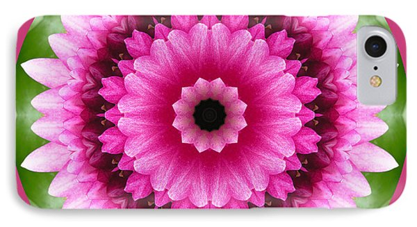 IPhone Case featuring the photograph Pink Lotus Kaleidoscope by Betty Denise