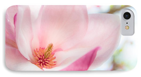 Pink Magnolia IPhone Case by Denise Bird