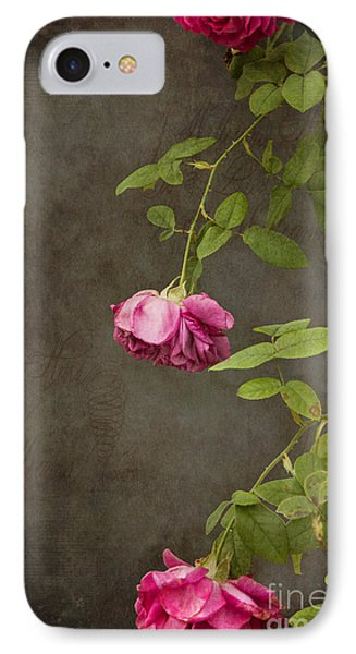 Flowers iPhone 7 Case - Pink On Gray by K Hines