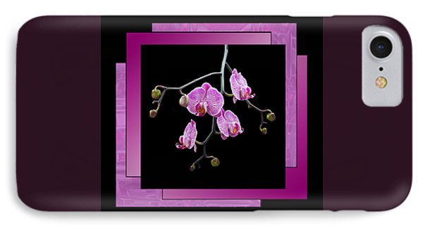 IPhone Case featuring the photograph Framed Orchid Spray by Patti Deters