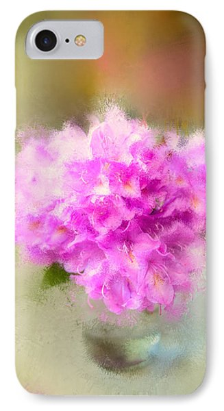 Pink Painted Rhododendrom IPhone Case