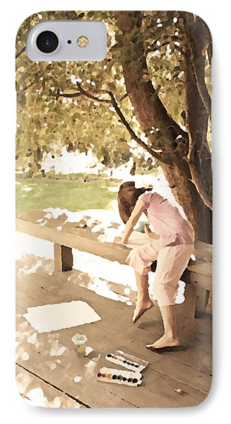 IPhone Case featuring the photograph Pink Painter by Brooke T Ryan