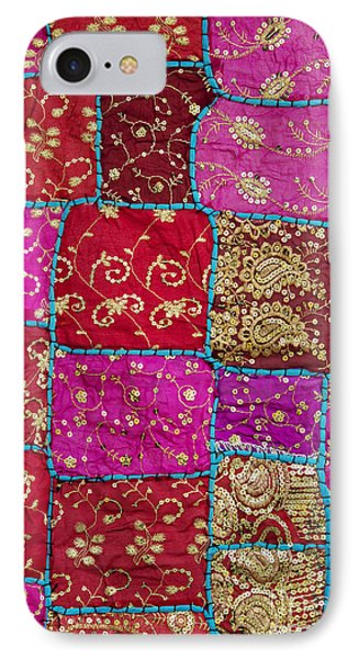 Pink Patchwork Indian Wall Hanging Phone Case by Tim Gainey