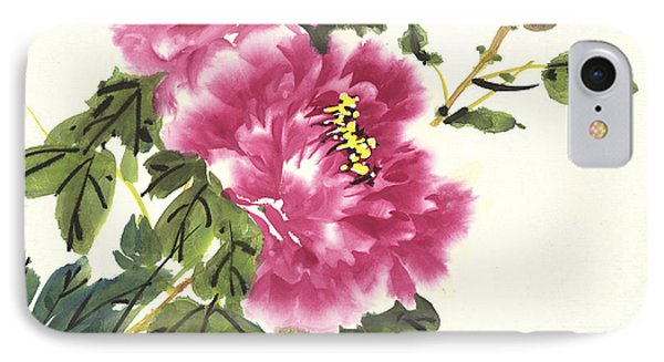 IPhone Case featuring the painting Pink Peonies by Yolanda Koh