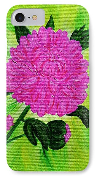 Pink Peony IPhone Case by Celeste Manning