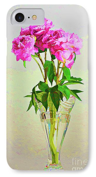 Pink Peony Flowers IPhone Case by Linda Matlow
