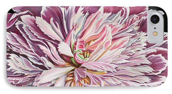 IPhone Case featuring the painting Pink Peony by Jane Girardot