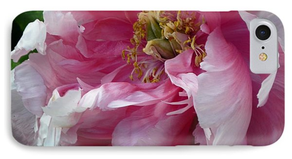 IPhone Case featuring the photograph Pink Peony Open Wide by Jeanette Oberholtzer